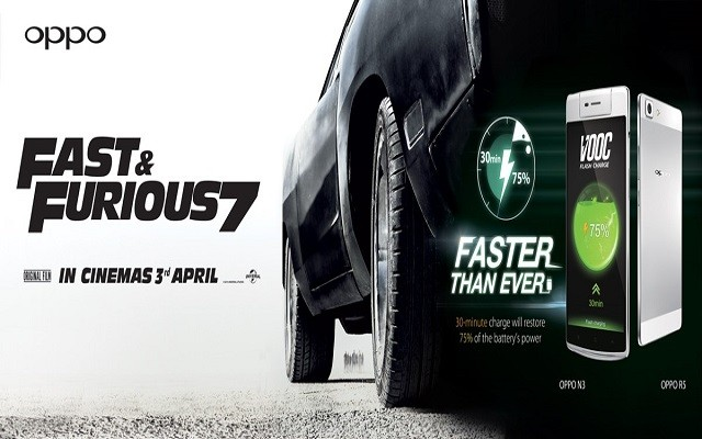 OPPO Partners Fast & Furious 7