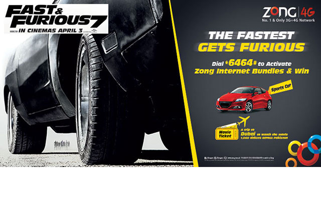 Zong Launches Fast And Furious 7 In Pakistan