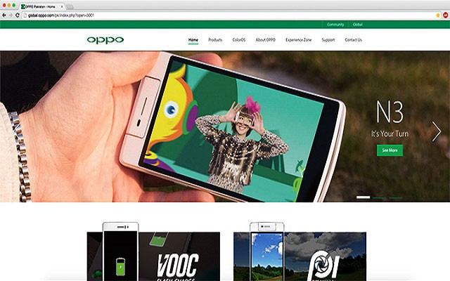 OPPO Pakistan Launches New Website