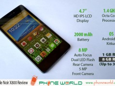 QMobile Noir X800 Review