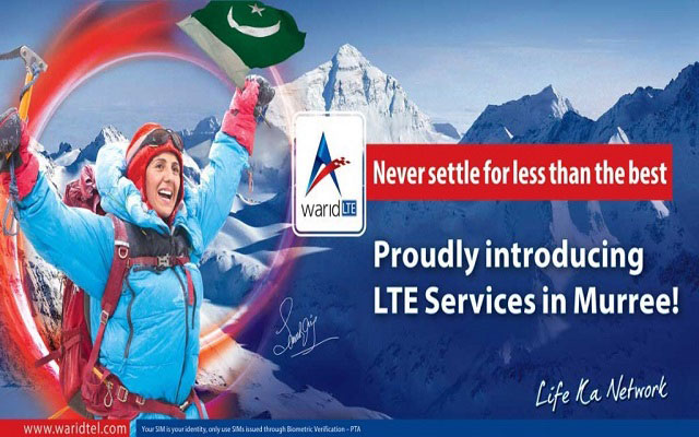 Warid Telecom Launches 4G LTE Services in Murree