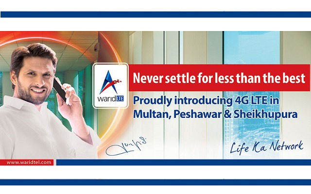 Warid Expands its 4G LTE Network to 12 Cities of Pakistan