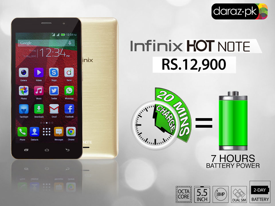 Infinix Mobility in Partnership with Daraz.Pk, Debuts with the Launch of 'HotNote' Smartphones in Pakistan
