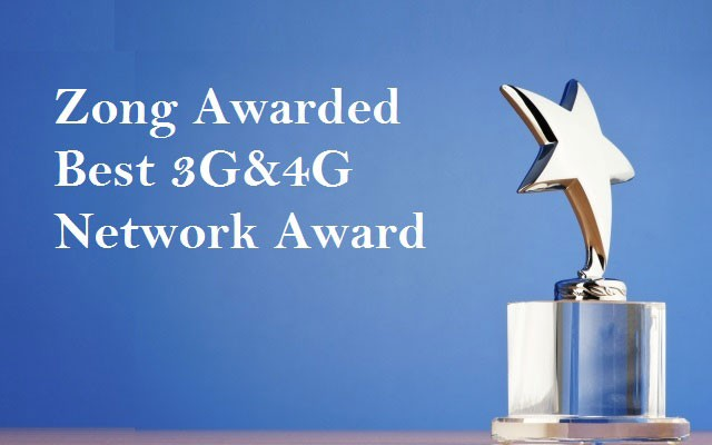 Zong Awarded with Best 3G&4G Network Award at CCA 2014-15
