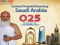 Zong Per Second Offer for International Roaming in Saudi Arabia