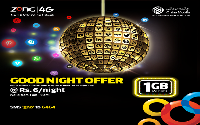 Zong Introduces Good Night Offer