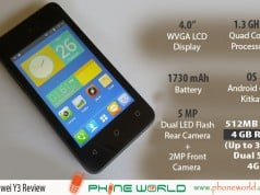 Huawei Y3 Specifications