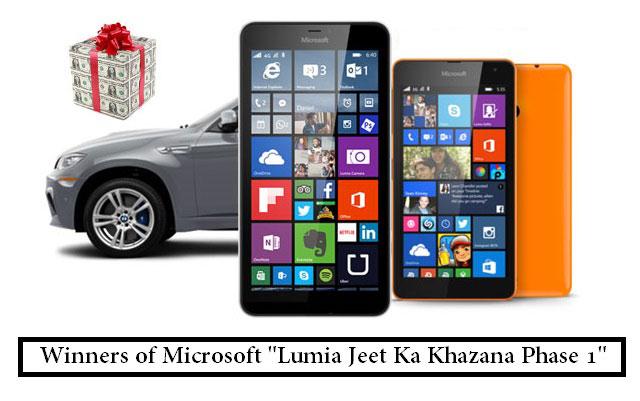Microsoft Announces Winners of Lumia Jeet Ka Khazana Phase 1
