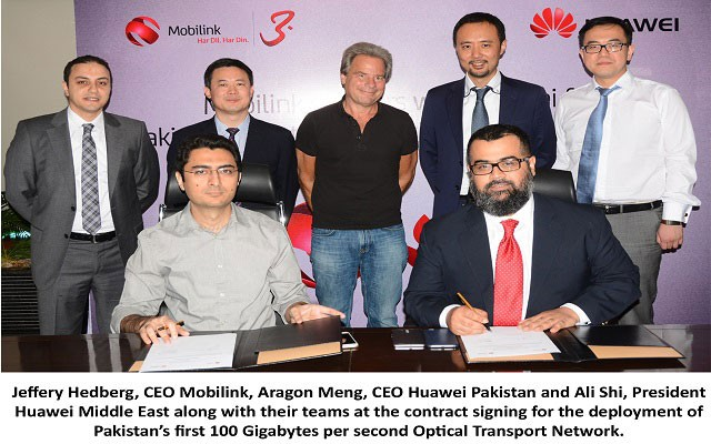 Mobilink Signs Huawei to Install Pakistan's First 100Gbps Optical Network