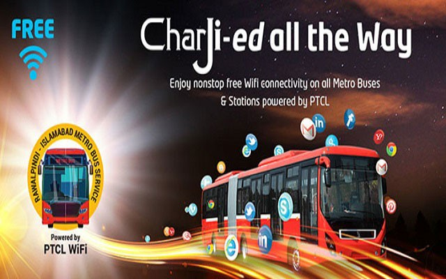 PTCL Proudly Announces Free Wifi Services in All Metro Buses and Stations