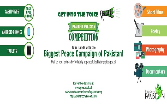 Peaceful Pakistan Announced First Online Competition