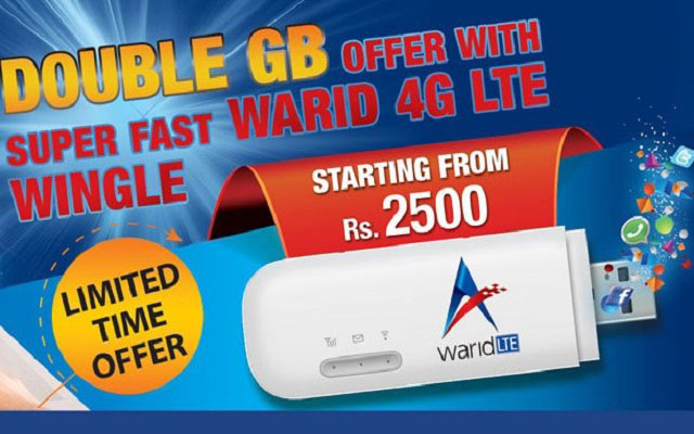 Warid Pakistan Launches LTE Broadband Wingle and MiFi