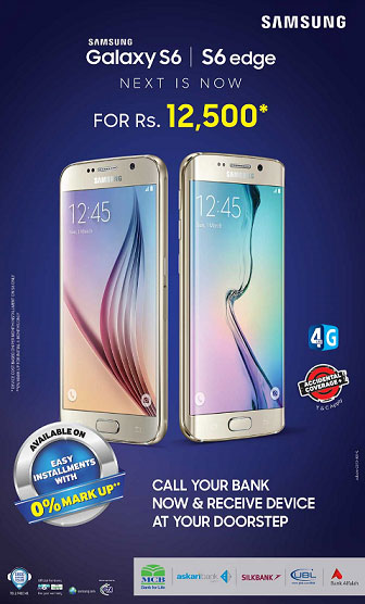 Samsung Galaxy S6 & S6 Edge on Installments in Pakistan