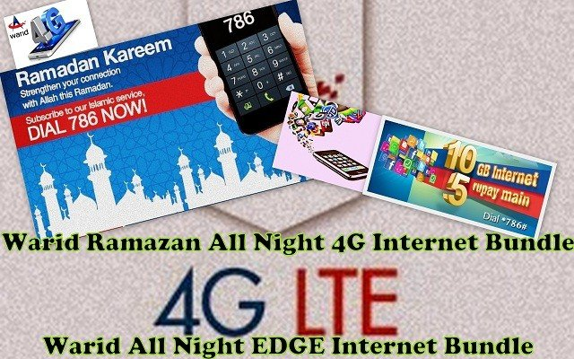 Warid Ramazan All Night 4G Internet Bundle
