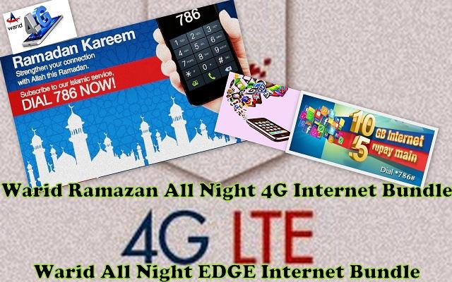 Warid Ramazan All Night 4G Internet Bundle
