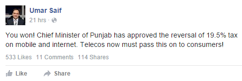 Taxes to be Reversed Again by Punjab Government