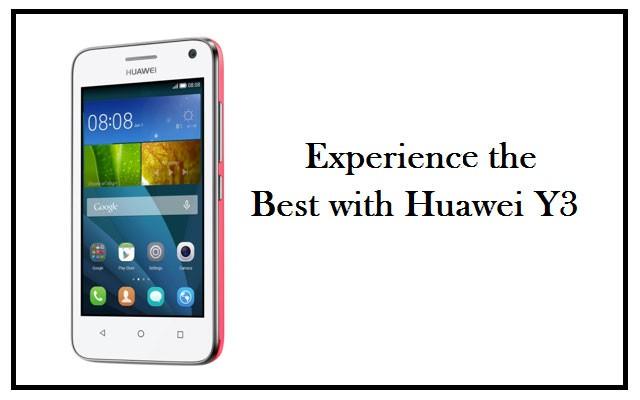 Huawei Y3-A Splendid Entry-level Smartphone