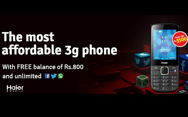 Mobilink Launches Haier J10 in Pakistan at an Affordable Price of Rs3500