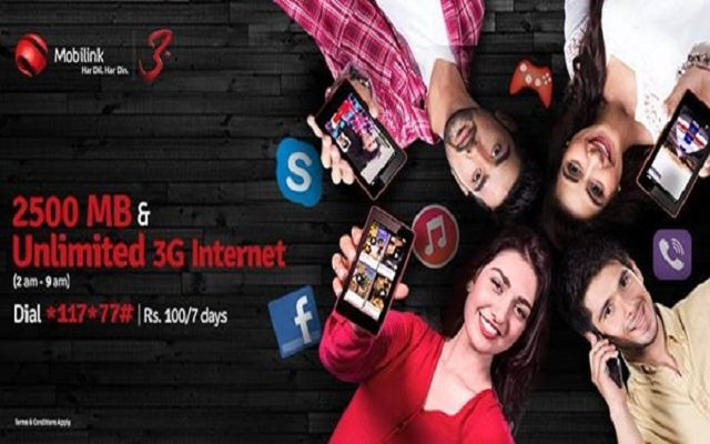 Mobilink Brings 3G Super Weekly Offer