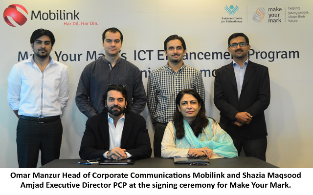 Mobilink and Pakistan Centre for Philanthropy Partner-Up to Support Education