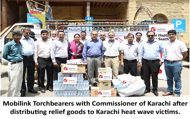 Mobilink Torchbearers Helps Karachi to Battle the Heat