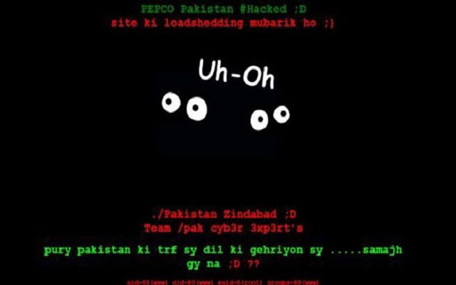 PEPCO Website Hacked by Pakistani Hackers