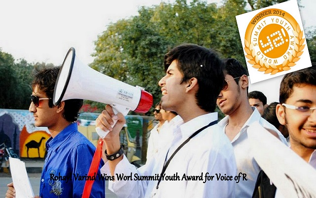 Rohayl Varind, A Pakistani Wns World Summit Youth Award