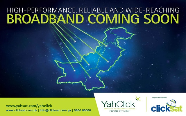 YahClick Announces to Launch Satellite Broadband Services in Pakistan