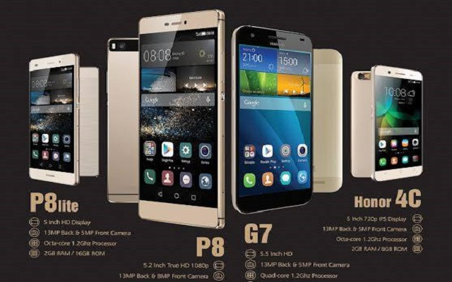 Huawei P8, P8 Lite, Honor 4C and G7 Now Available in Gold Version