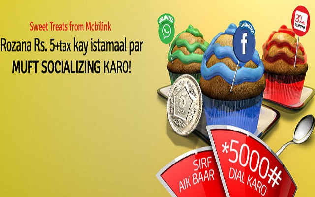 Mobilink Brings Free Socializing After Consumption of Rs 6