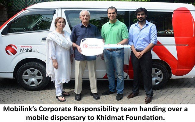 Mobilink Donates State-of-the-Art Mobile Dispensary to Khidmat Foundation