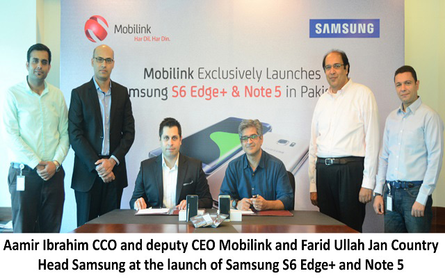 Mobilink Becomes an Exclusive Operator Launch Partner for Samsung's Galaxy Note 5 and Galaxy S6 Edge Plus