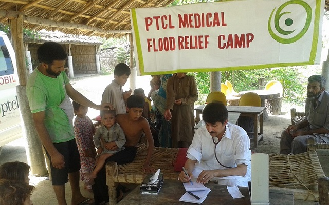 PTCL Sets up Medical Flood Relief Camp in Flooded Areas