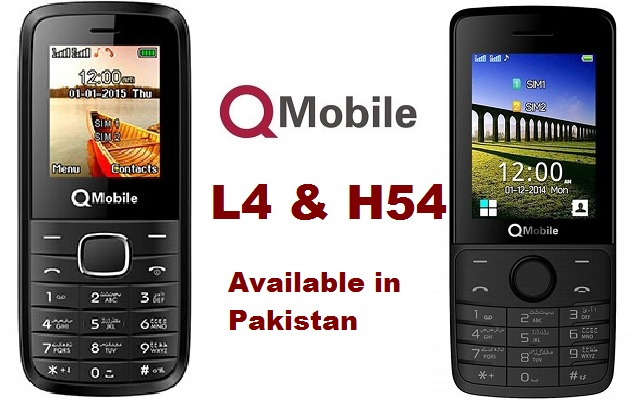 QMobile Introduces Two Low Price Bar Phones QMobile L4 and H54