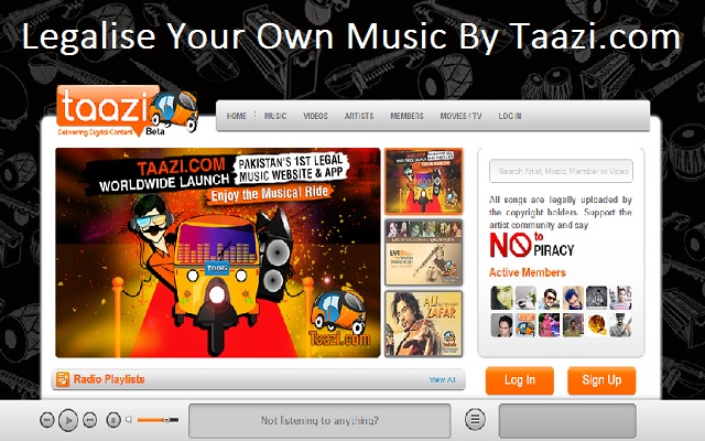 Taazi Pakistan's First Legal Music Website
