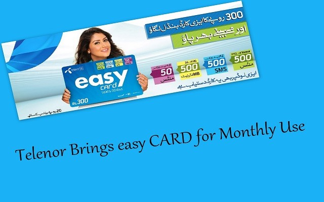 Telenor EasyCard to be Used for Whole Month