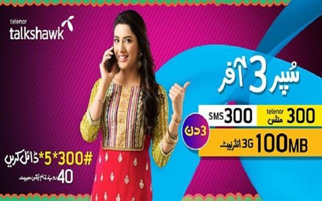 Telenor Talkshawk Brings 'Super 3 Offer'