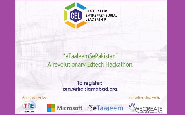 TiE-CEL Islamabad Brings eTaaleemSePakistan Sponsored by Microsoft and Powered by eTaaleem