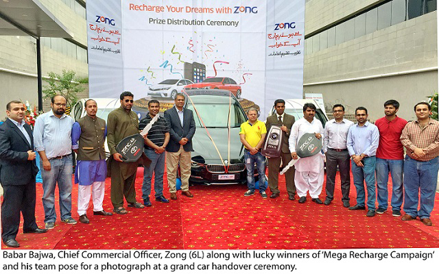 Zong Hands Over, A Brand New BMW & 2 Toyota Corolla Cars to 3 Lucky Winners