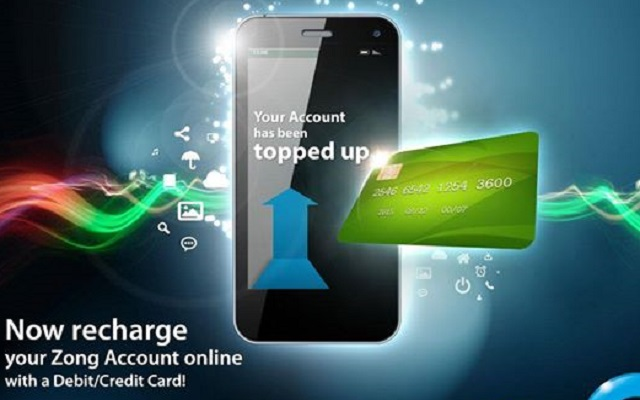 Zong Introduces Online Recharge with Debit or Credit Card ...