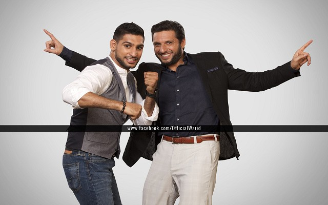 Boxer Amir King Khan and Shahid Afridi to Appear Together in Warid's Upcoming TV Commercial
