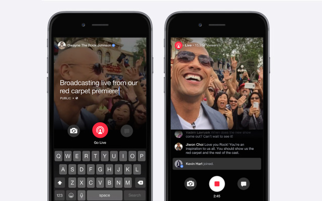 Facebook Launches Live Streaming Video Feature for Celebrities