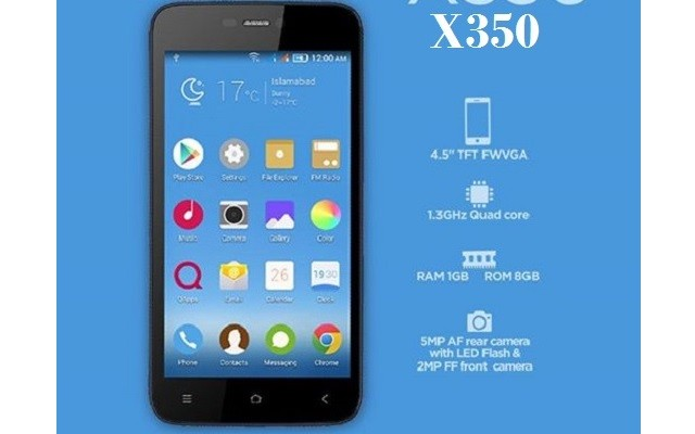 QMobile Introduces X350 at an Affordable Price of Rs 9800