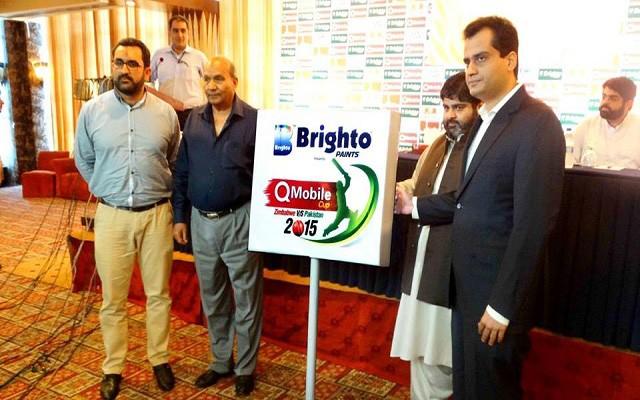 QMobile Sponsors Pakistan Vs Zimbabwe Series 2015