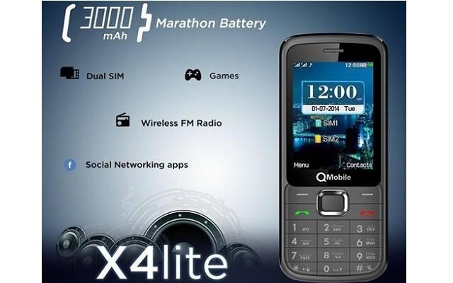 QMobile introduces X4 Lite with 3000 mAH Marathon Battery