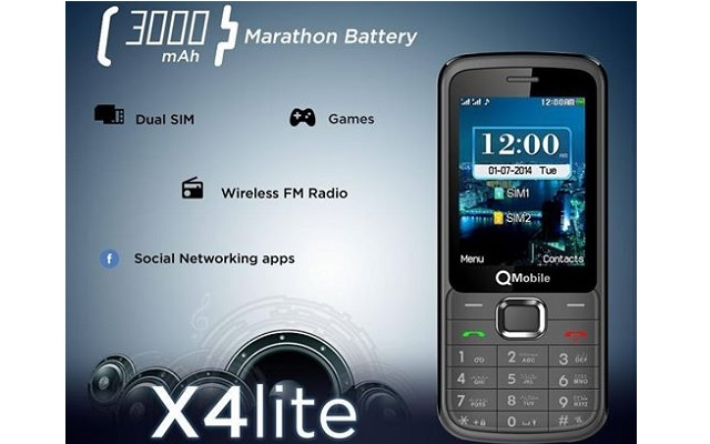QMobile introduces X4 Lite with 3000 mAH Marathon Battery