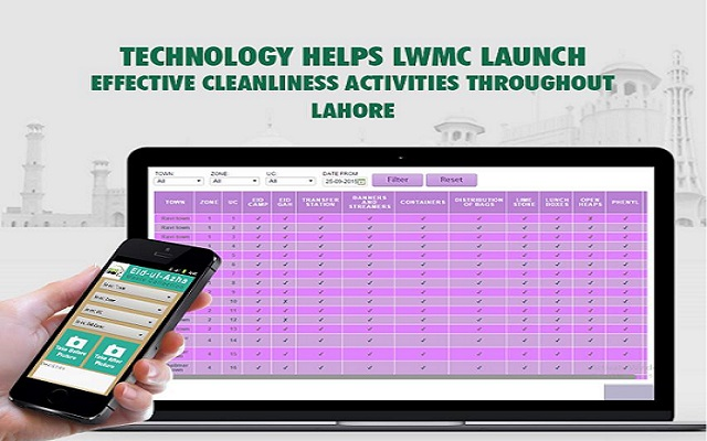 Technology Helps LWMC Launch Effective Cleanliness Throughout Lahore