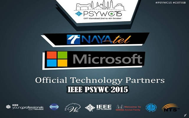NayaTel and Microsoft Technology Partners of the IEEE PSYWC'15 at COMSATS Islamabad