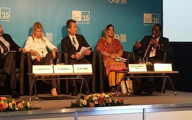 Anusha Rehman Attending a Panel on New User, New Market n New Services atITU Telecom World 2015