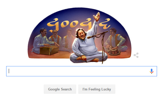 Google Pays Tribute to Nusrat Fateh Ali Khan on 67th Birth Anniversary